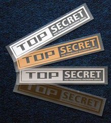 Top Secret large sticker decal