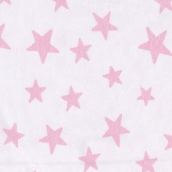 Printed Cotton Jersey - Pale Pink Stars