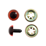 Toy Eyes: Safety: Amber: 24mm: 2 Pack
