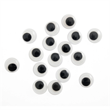 Toy Eyes: Googly: Glue-On: 18mm: Black: 16 Pack