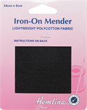 Polycotton Patch: Black - 24 x 9cm - 1pc