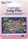Plastic Coloured Heads Pins: Nickel - 38mm, 75pcs