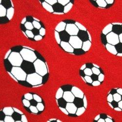 Polar Fleece - Red Footballs