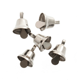 Bells: Liberty: 10mm: Silver: 6 Pack
