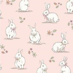 Woodland Bunnies - Pink