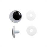 Toy Eyes: Safety Googly: 20mm: Black: 4 Pack