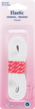 General Purpose Braided Elastic: White - 2m x 9mm