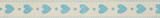 Natural Ribbon : 5m x 15mm: Hearts: Blue