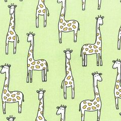 Michael Miller - Baby Zoo - Gentle Giraffes - Sprout