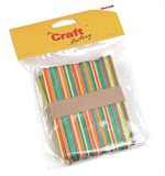 Wooden Sticks: Coloured: Pack of 80