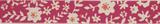 Natural Ribbon : 5m x 15mm: Floral: Pink & Orange