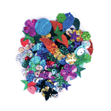 Sequins: Mixed: Multi-coloured: 20g