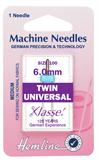 Twin Universal Machine Needles - 100/16 - 6mm