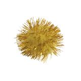 Glitter Pom Poms: 2.5cm (1in): Gold