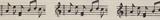 Natural Ribbon : 5m x 15mm: Musical Notes
