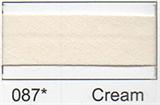 25mm Bias Binding - Cream