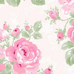 Clothworks - Emma's Garden - Bloom - Light Pink
