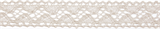 Cotton Lace: 5m x 18mm: Cream
