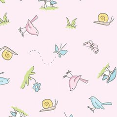 Clothworks - Guess How Much I Love You - Little Friends - Pink