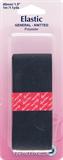 General Purpose Knitted Elastic: Black - 1m x 40mm
