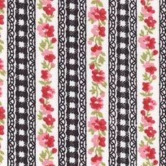 Floral Stripe - Black