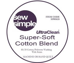 Sew Simple Super-Soft 80/20 Cotton Blend  Wadding