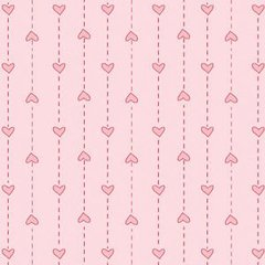 0.86mtr Remnant - Red Rooster - Basically Hugs - Pink 1 - Heart on a string