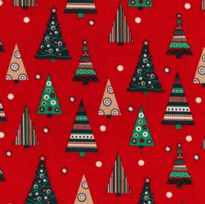 Traditional Christmas Trees - Red