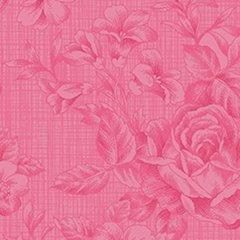 Clothworks - Emma's Garden - Floral - Fuchsia