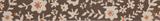 Natural Ribbon : 5m x 15mm: Floral: Brown & Orange