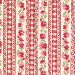 Floral Stripe - Red