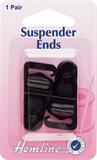 Suspender Ends: Black - 1 pair