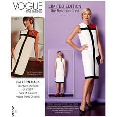 Limited Edition Mondrian Dress Vogue Sewing Pattern V1557