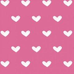 Clothworks - Vintage Valentine - Hearts - Pink