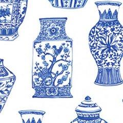 Clothworks - Blue Porcelain - Pottery - White