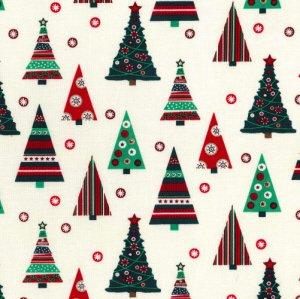 Traditional Christmas Trees - Cream
