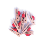Pegs: Wooden: With Ladybird: Pack of 8