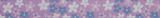 Grosgrain Ribbon : 5m x 15mm: Flowers: Lilac & Blue