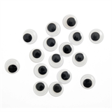 Toy Eyes: Googly: Glue-On: 7mm: Black: 30 Pack