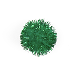 Glitter Pom Poms: 2.5cm (1in): Green
