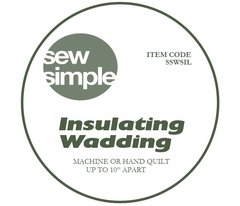 "Sew Simple Insulating Wadding 22.5"" wide"