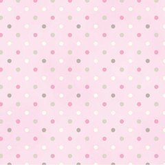 Clothworks - Guess How Much I Love You - Spots - Pink