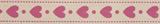 Natural Ribbon : 5m x 15mm: Hearts: Pink