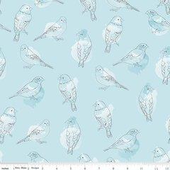 Riley Blake - Desert Bloom - Desert Bird - Blue