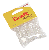 Metalic Beads: Plastic: Assorted: 30g