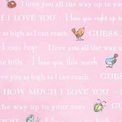 Clothworks - Guess How Much I Love You - Bedtime Story - Pink