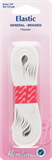 General Purpose Braided Elastic: White - 5m x 6mm