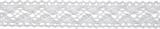 Cotton Lace: 5m x 18mm: White
