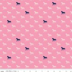 Riley Blake - Derby Horses - Pink