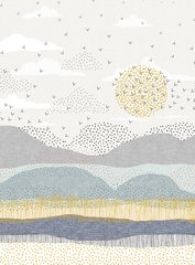 Dashwood Studio - Birdsong - Horizon border print